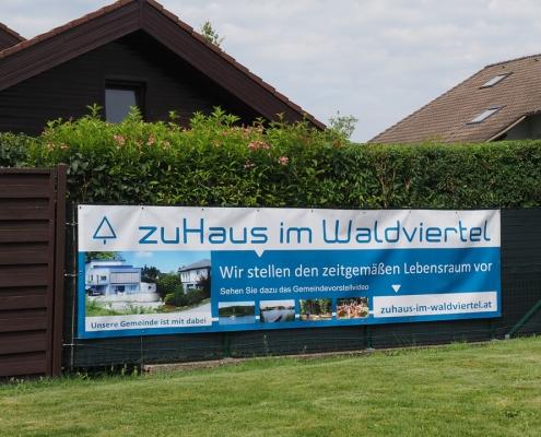 banner transparent zuhaus im waldviertel