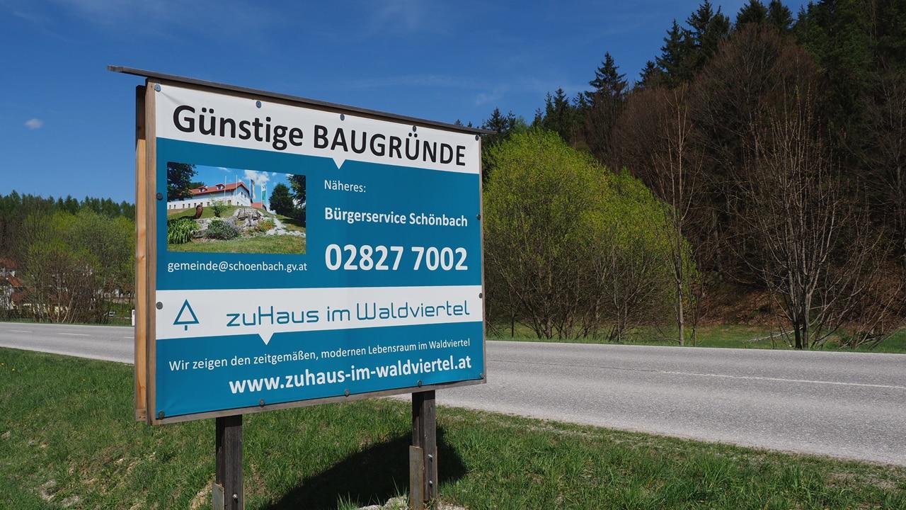 banner baugrund schönbach waldviertel