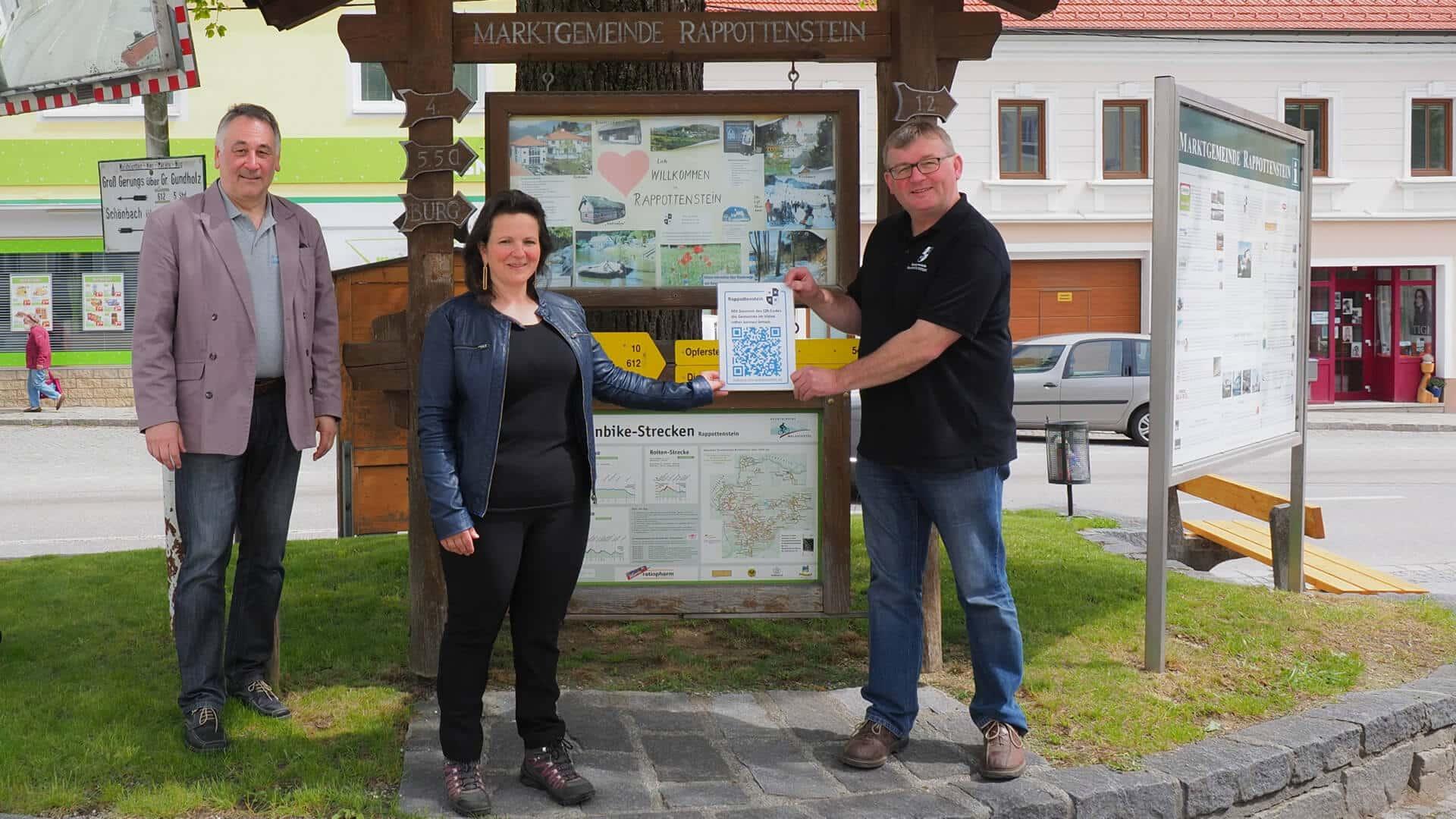 Rappottenstein Connect wohnen Waldviertel QR-Code